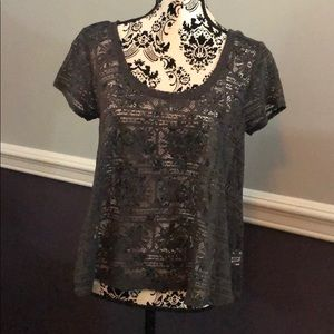 American Eagle Outfitters lace crop blouse medium